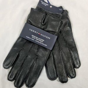 Tommy Hilfiger Men's LG Leather Gloves w. Touch